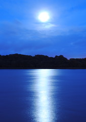 Water (at night) (Sarah Cowan's mix of photo love) Tags: longexposure moon night dream nighttime fantasy moonlight ourdailychallenge