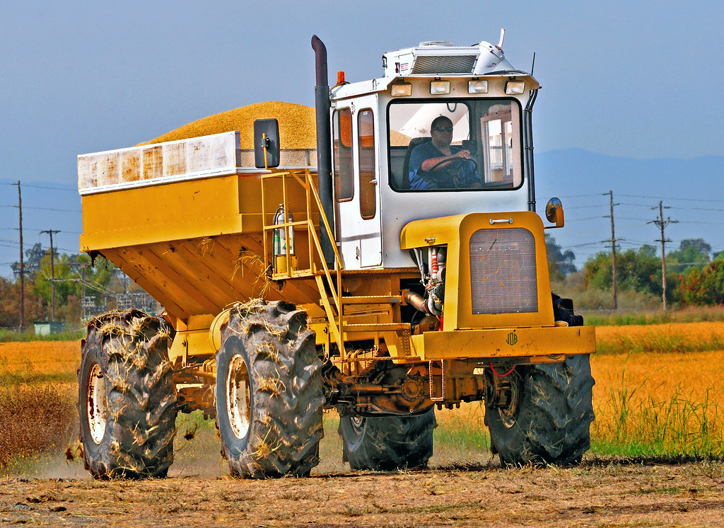 big boy toys - Rice Harvest ~  Rancho Esquon
