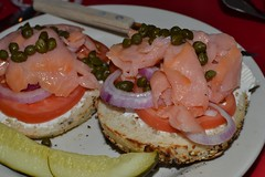 Roxie's Bagel & Lox Open Face Sandwich