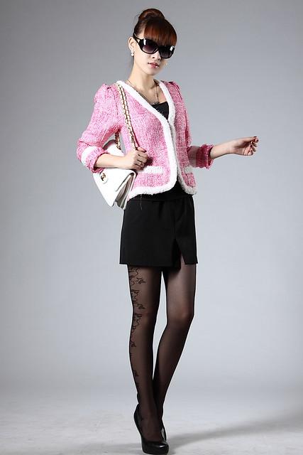 AA-005《检察官公主》金素妍同款极致奢华料毛短外套(粉色,黑色,杏色)S,M,L码