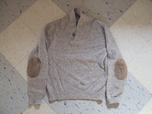 Wool Sweater with Elbow Pads