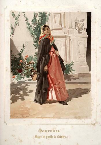 018-Portugal-Mujer de Coimbra-Las Mujeres Españolas Portuguesas y Americanas 1876-Miguel Guijarro