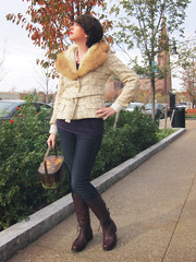 Vintage fur and tweed. (minicrush) Tags: wardroberemix foxfur tweedjacket lilliann furcollar