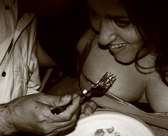 IMG_4351a1 (nightrainfalls) Tags: light blackandwhite bw food hot sexy beautiful face up sepia portraits wow hair walking necklace interesting intense eyes women breasts close legs eating candid gorgeous lips smoking oral lipstick wineglass cleavage gestures
