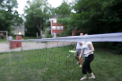Saturday Night BBQ (BWKP) Tags: sport birdie paul bbq frances badminton shuttlecock racquet featheredprojectile