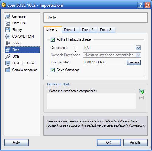 VirtualBox - configurazione base della rete