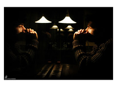 The two of us (Ehsan Khakbaz) Tags: two portrait eye art look cafe iran think style thinking iranian  eyesight  irani ehsan       twoofus     khakbaz ehsankhkabaz