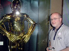 C3P0 and Waja (Aronguy) Tags: history museum star exhibit science c3p0 worth wars forty rodger waja