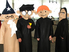 Harry Potter Puppet Pals (megadem) Tags: anime costume puppet cosplay harry harrypotter pals baltimore ron convention otakon snape 2007 dumbledore deathlyhollows otakon2007