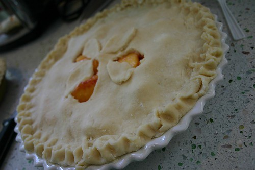 peach pie with flair