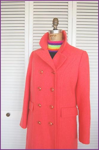 fluro 60s coat