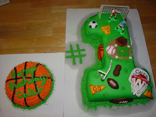 1st Birthday Cup Cake Ideas boys sports first birthday cake by Charley And