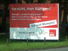 Plakat: So nicht, Herr Rüttgers!