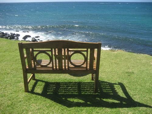 La nostra panchina di fronte al Pacifico