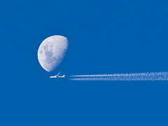Space race (javajive) Tags: travel bali moon indonesia airplane bravo technology space jet jetstream nophotoshop exploration 20thcentury lunar javajive timing damncool rightplacerighttime supershot