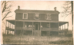RP - Old House with People on Porch (Lynn (Gracie's mom)) Tags: vintage postcard oldhouse antiquepostcard boutique porch apb postcards oldphoto oldphotos antiquepostcards realphoto realphotos apboutique