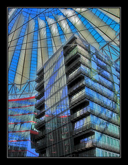 Berlin | Glass and steel (tochis) Tags: urban berlin glass architecture modern germany deutschland arquitectura steel potsdamerplatz sonycenter alemania cristal acero berln 10faves flickrsbest superhearts deletedfromflickrhearts deletedfromithinkthisisart deletedfromeperkeaward deletedfromultimatescoreme