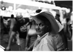 cowlady (Chris Beauchamp) Tags: people calgary film portraits blackwhite stampede copyrightchrisbeauchamp20072009