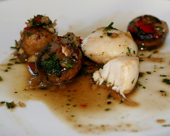 Scallops and Mushrooms