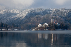 Lake Bled (nick_russill) Tags: lake snow slovenia bled vogel jezero ljubjuana