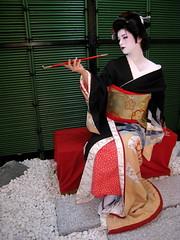 Geisha Makeover (lu_lu) Tags: me japan tokyo costume lulu pipe geiko geisha kimono luis lu