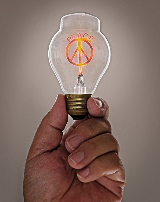 I got peace like a light bulb