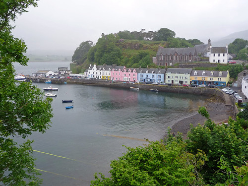 Colourful Harbour Cottages, Portree