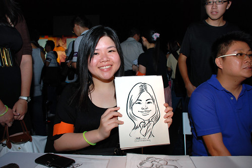 caricature live sketching for SDN First Anniversary Bash - 6