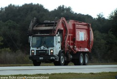 "A ""red"" Advanced Disposal Mack MR / McNeilus FEL - 900 (FormerWMDriver) Tags: trash truck garbage mr disposal front collection rubbish end fl waste refuse loader load mack inc sanitation advanced fel frontloader frontload mcneilus"