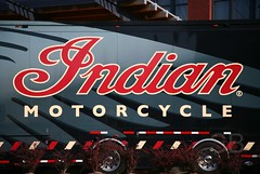 Indian motorcycle trailer (Studiobaker) Tags: city trip red summer horse white yellow wisconsin grey drive hotel iron tour display indian gray august visit milwaukee motorcycle summertime trailer aug wi 2010 studiobaker