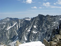 Left to Right Cannon Mtn, Druid Plateau, Enchantment Peaks, Temple Mtn, Dragontail Mtn.