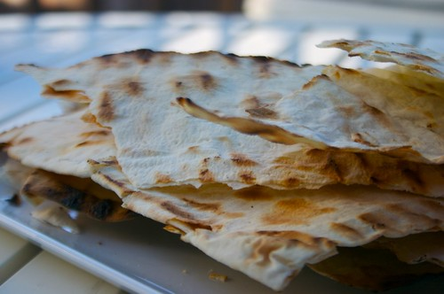grilled crispy lavash bread