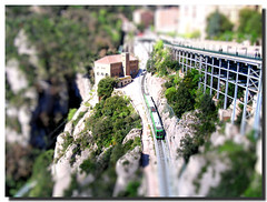 Rack railway / Cremallera (SantiMB.Photos) Tags: barcelona railroad espaa mountain train tren miniature spain model bravo catalonia holy montserrat catalunya montaa soe bages ferrocarril sagrado cremallera tiltshift blueribbonwinner rackrailway fakemodel tiltshift12 abigfave ultimateshot holidaysvancanzeurlaub superbmasterpiece travelerphotos firsttheearth goldenphotographer diamondclassphotographer flickrdiamond excellentphotographerawards fiveflickrfavs