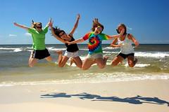 The Jump (cmpalmer) Tags: camping beach jump funny alabama amusing comical gulfshores orangebeach latimes latimesfrontpagenewz justhitmewithyourbestshotjune2008photoofthemonthcontestant