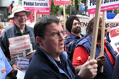 Striking postal workers