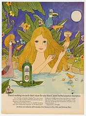 Clairol Herbal Essence Shampoo (twitchery) Tags: flowers vintage hair bath hippy shampoo 70s herbal conditioner vintageads clairol vintagebeauty creamrinse cremerinse