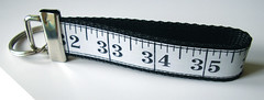 Black Measuring Tape Key Fob