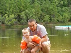 Dennis and Nathan at the lake