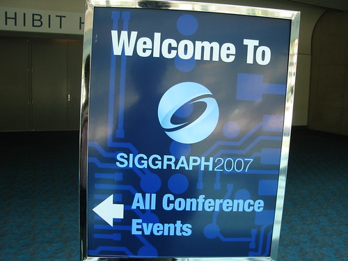 Welcome to SIGGRAPH 2007 sign