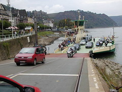 Ferry Unloading (winiwin) Tags: germany stgoar rhineriver