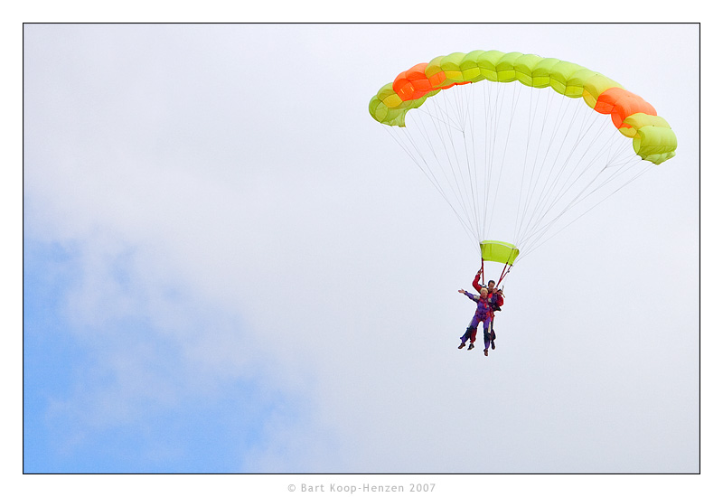 Parachute springen Texel