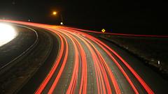 Interstate 15 at night (kjdrill) Tags: california sunset usa sun beach lines night san colorful long exposure shot diego 15 freeway interstate trestles