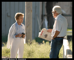 Bob Baffert and Beverly Lewis (Rock and Racehorses) Tags: morning saratoga trainer owner racehorses bobbaffert beverlylewis