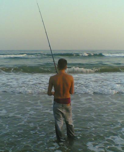 pescador joven a la moda