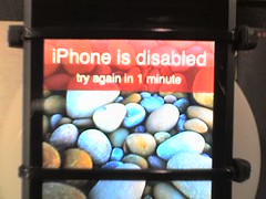 IT'S TRUE!!! (applec2400) Tags: cameraphone apple mac ipod touch pebbles disabled password iphone incorrect slvr misnamed
