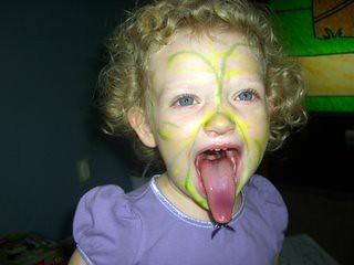moosh tounge as a tiger.