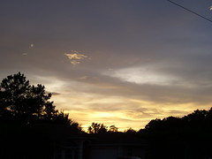 Grey & Golden 6:59pm (#598) (38 LN 38) Tags: sunset wallpaper sky black color nature clouds grey golden dramatic personalfavorite frontyard desktopwallpaper sunsetwallpaper