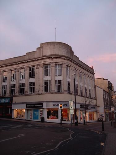Burton's vertical aspect showing flagpole