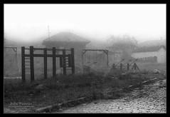 Abandoned Playground (Boby Pirovics) Tags: bw mist abandoned playground misty canon children 50mm 18 boby paranapiacaba canonft dphdr pirovics bobypirovics