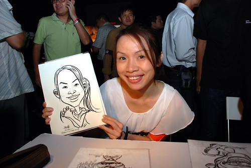 caricature live sketching for SDN First Anniversary Bash - 21